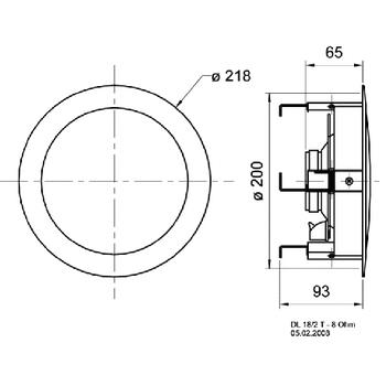 VS-DL18/2T Inbouw speaker In gebruik foto
