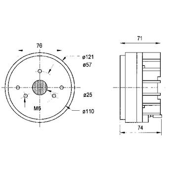 VS-DR45N Inbouw speaker
