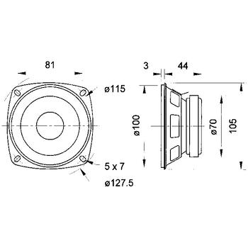 VS-FR10/4 Fullrange speaker 10 cm (4\