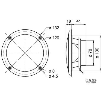 VS-FR10WPXB-4 Full-range luidspreker zoutwaterbestendige 10 cm (4\
