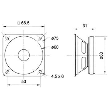 VS-FRS7/8S Full-range luidspreker 6.5 cm (2.5\