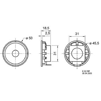 VS-K50WP-16 Full-range luidspreker 5 cm (2\