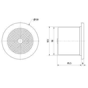 VS-ML10T Inbouw speaker In gebruik foto