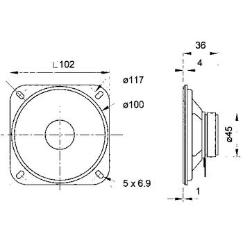 VS-R10S/4 Fullrange luidspreker 10 cm (4\