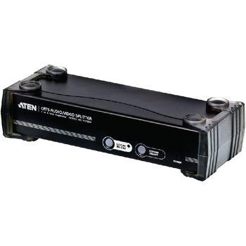 VS1504T-AT-G 4-poorts met audio-ondersteuning vga-splitter zwart