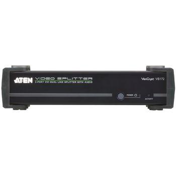 VS172-AT-G 2-poorts met audio-ondersteuning dvi-splitter zwart Product foto