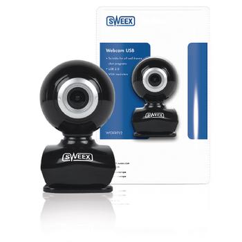 WC035V2 Webcam usb 0.3 mpixel sd kunststof zwart/zilver Verpakking foto