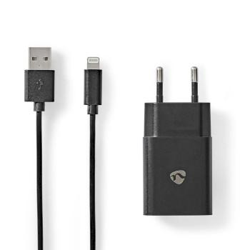 WCHAL242ABK Oplader | 1x 2,4 a | outputs: 1 | usb-a | lightning 8-pins (los) kabel | 1.00 m | 12 w | enkele volt Inhoud verpakking foto