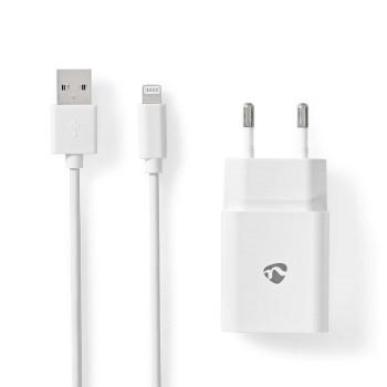 WCHAL242AWT Oplader | 1x 2,4 a | outputs: 1 | poorttype: usb-a | lightning 8-pins (los) kabel | 1.00 m | 12 w |  Inhoud verpakking foto
