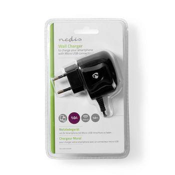WCHAM100ABK Oplader | 1x 1,0 a | outputs: 1 | micro-usb | 1.00 m | 5 w | enkele voltage selectie  foto
