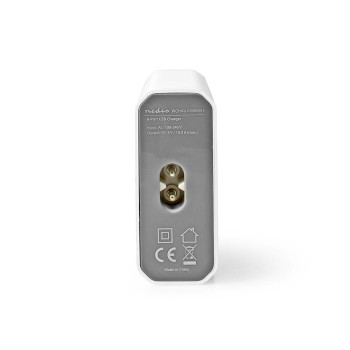 WCHAU1000AWH Oplader | snellaad functie | 1x 2,1 a / 2x 2,4 a / 3x 1,0 a | outputs: 6 | 6x usb-a | geen kabel inb Product foto