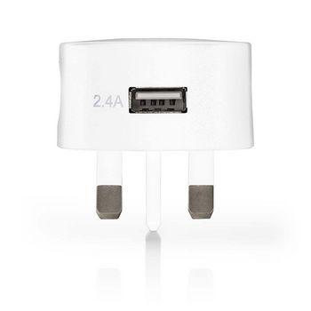 WCHAU240AWTUK Oplader   1x 2,4 a   outputs: 1   poorttype: 1x usb-a   geen kabel inbegrepen   12 w   enkele voltag