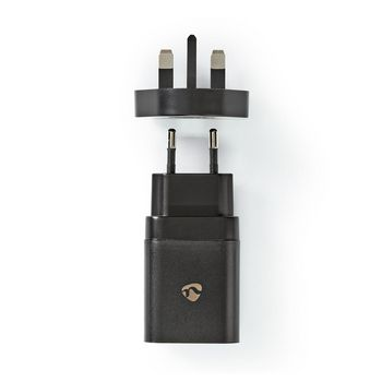WCPD18WU102BK Oplader   1,5 a / 2 a / 3,0 a   outputs: 1   poorttype: usb-c™   18 w   automatische voltage s
