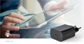 WCPD30W102BK Oplader | pd3.0 30w | 1,5 a / 2 a / 2,5 a / 3,0 a | outputs: 1 | usb-c™ | 30.0 w | automatisch Product foto