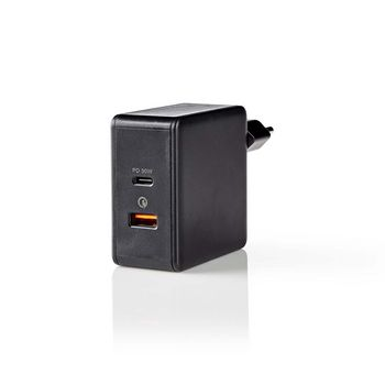 WCPD30W110BK Oplader   snellaad functie   pd3.0 30w / qc3.0   2x 3,0 a   outputs: 2   usb-a / usb-c™   geen