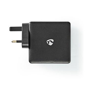 WCPD65W110BK Oplader | snellaad functie | pd3.0 18w / pd3.0 27w / pd3.0 36w / pd3.0 45w / pd3.0 65w | 1,5 a / 2 a Product foto