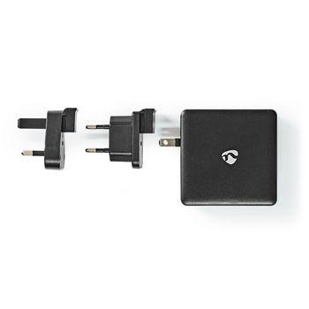 WCPD65W110BK Oplader | snellaad functie | pd3.0 18w / pd3.0 27w / pd3.0 36w / pd3.0 45w / pd3.0 65w | 1,5 a / 2 a Inhoud verpakking foto