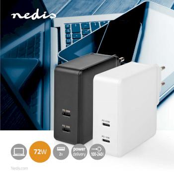 WCPD65W110WT Oplader | snellaad functie | pd3.0 18w / pd3.0 27w / pd3.0 36w / pd3.0 45w / pd3.0 65w | 1,5 a / 2 a Product foto