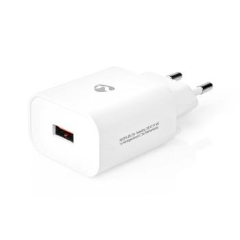 WCQC302AWT Oplader   1x 3,0 a   outputs: 1   poorttype: usb-a   geen kabel inbegrepen   18 w   automatische vol