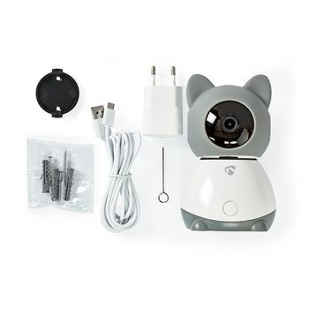WIFICI30CGY Smartlife camera voor binnen | wi-fi | full hd 1080p | kiep en kantel | cloud / microsd | met bewegi Inhoud verpakking foto