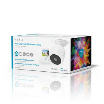 WIFICO50CWT Smartlife camera voor buiten | wi-fi | full hd 1080p | ip65 | cloud / microsd | 5,0 v dc | met beweg Verpakking foto