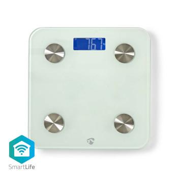 WIFIHS10WT Smartlife personenweegschaal | wi-fi | bmr / botten / gewicht / spieren / vet / water | 8 geheugenpl