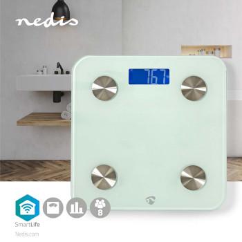 WIFIHS10WT Smartlife personenweegschaal | wi-fi | bmr / botten / gewicht / spieren / vet / water | 8 geheugenpl Product foto
