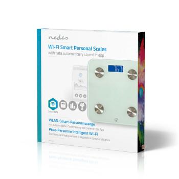 WIFIHS10WT Smartlife personenweegschaal | wi-fi | bmr / botten / gewicht / spieren / vet / water | 8 geheugenpl Verpakking foto