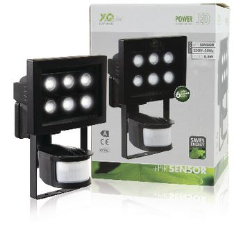 XQ-1010 Led floodlight met sensor 8.8 w 210 lm zwart